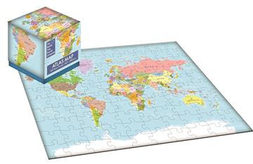 World Atlas Map - 100 Piece Jigsaw Puzzle Cube