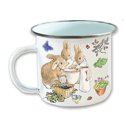 Beatrix Potter's Flopsy Bunnies Enamel Mug