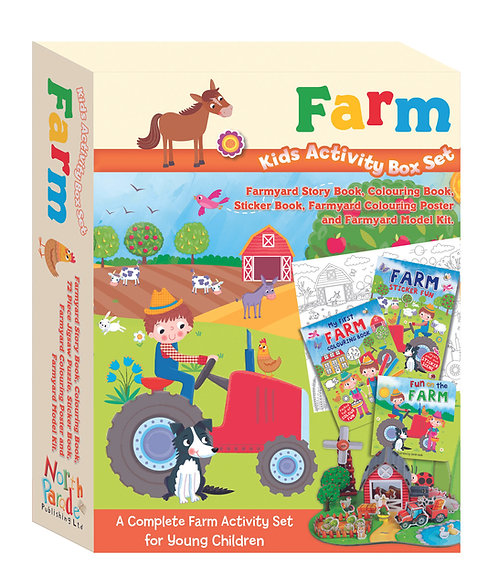 Kids Activity Box Set - Farm