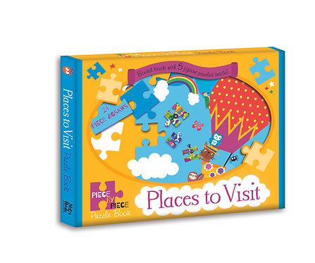 Places to Visit - Piece by Piece Puzzle Book
