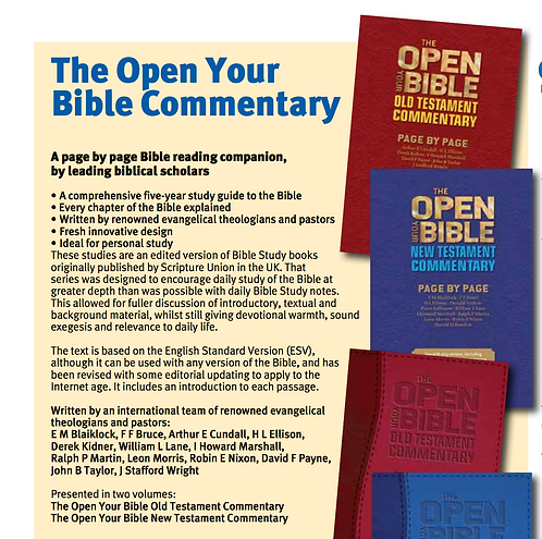 The Open Your Bible Commentary - Old and New Testament