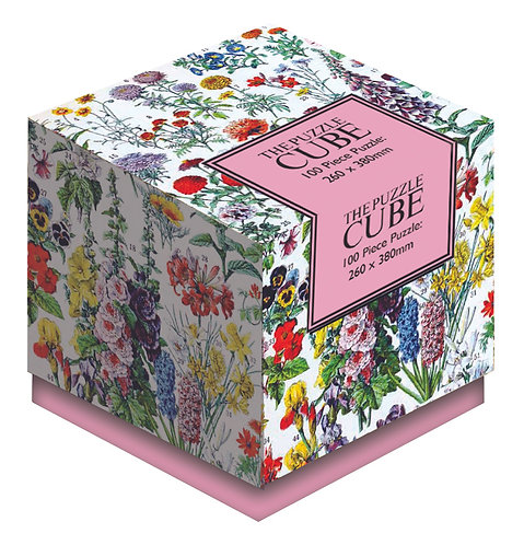 Flowers - 100 Piece Jigsaw Puzzle Cube