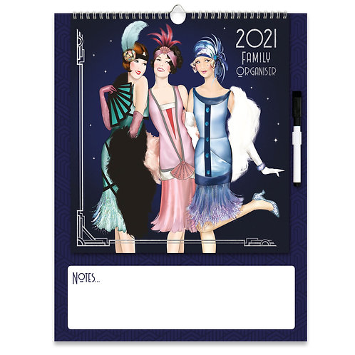 2021 Art Deco Family Organiser Calendar