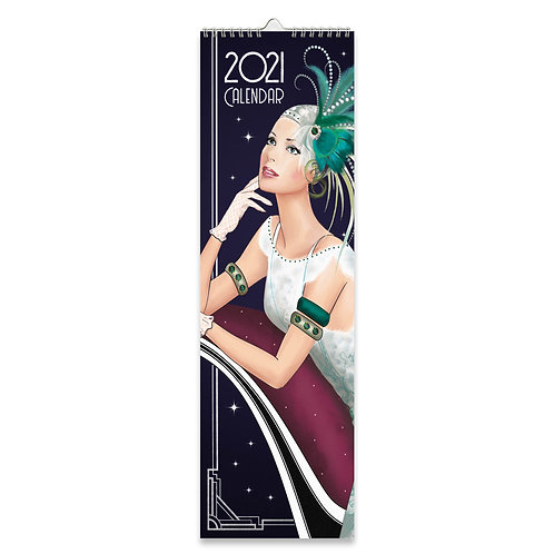2021 Art Deco Slim Calendar