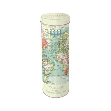 1000 Piece Jigsaw in a Tin - Vintage Map