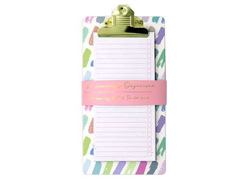 Shopping and To Do List Clipboard - Pastel Patter