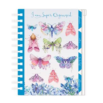 Organiser, Planner, Notes, To Do List, Addresses - Butterflies 'Super Organised'