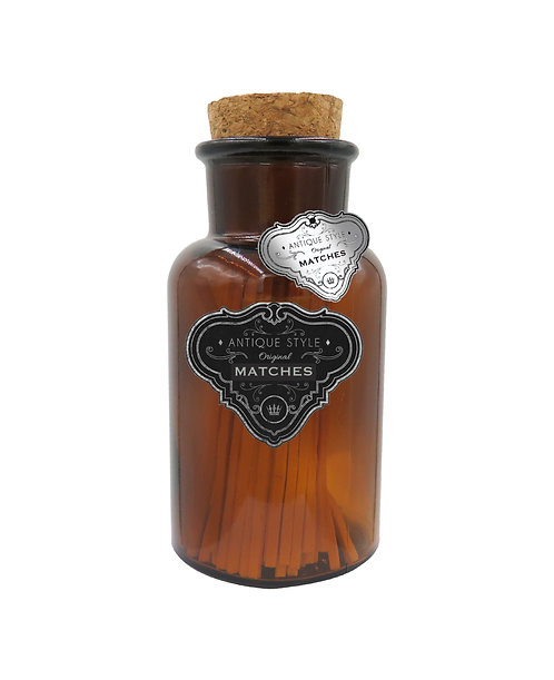 Antique Matches in Brown Jar