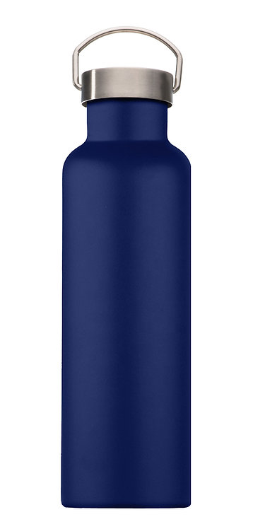 Handled Water Bottle - Mai Navy Blue