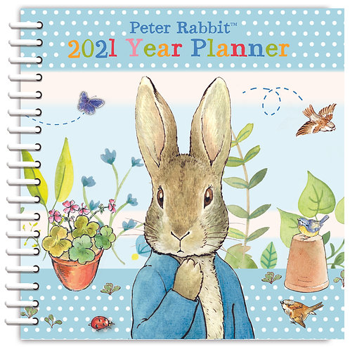 2021 Peter Rabbit Month to View Year Planner