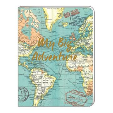 A5 Soft Cover Notebook - Vintage Map 'My Big Adventure'