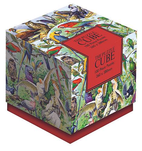 Tropical Birds - 100 Piece Jigsaw Puzzle Cube
