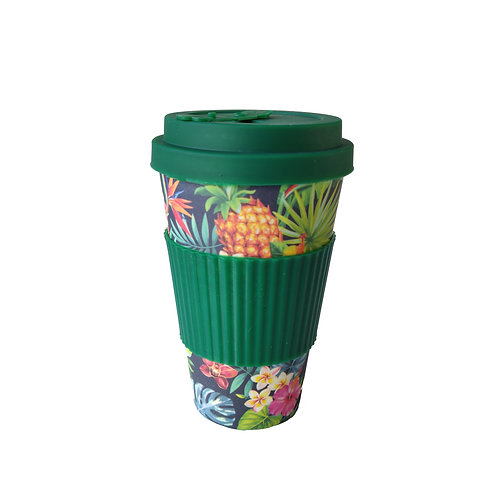 Tropical Palm - Bamboo Coffee Cup