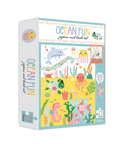 Jigsaw and Book Set - Ocean Fun
