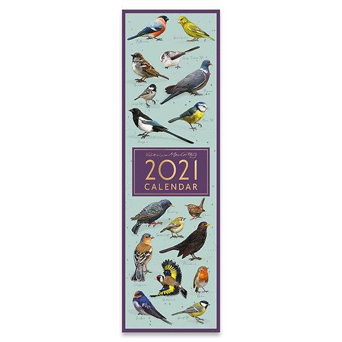 2021 Birds Slim Calendar