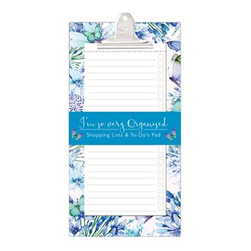Shopping and To Do List Clipboard - Butterflies & Moths 'So Very Organised'