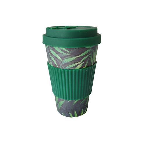 Green Fern - Bamboo Coffee Cup