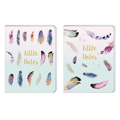 A6 Soft Cover Notebook - Pizazz Feathers