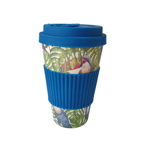 Jungle Toucans - Bamboo Coffee Cup