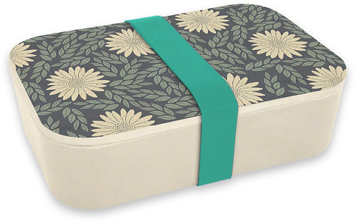 Navy Daisy - Bamboo Lunch box