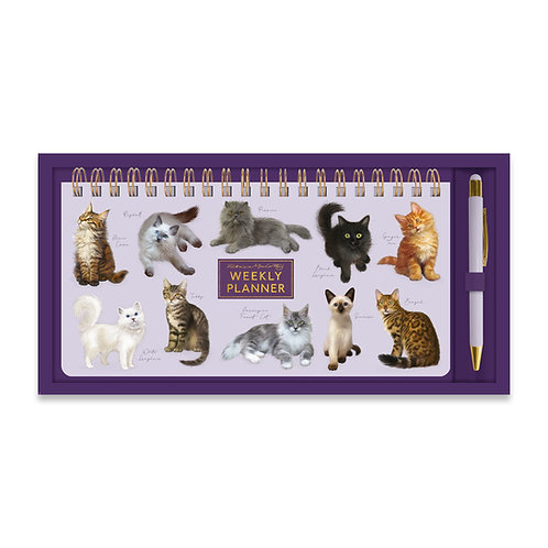 Patricia MacCarthy Cats Weekly Planner & Pen Set