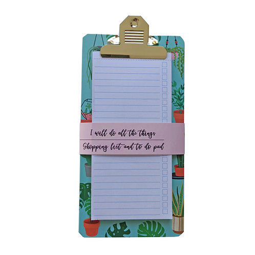 Shopping and To Do List Clipboard - Urban Jungle