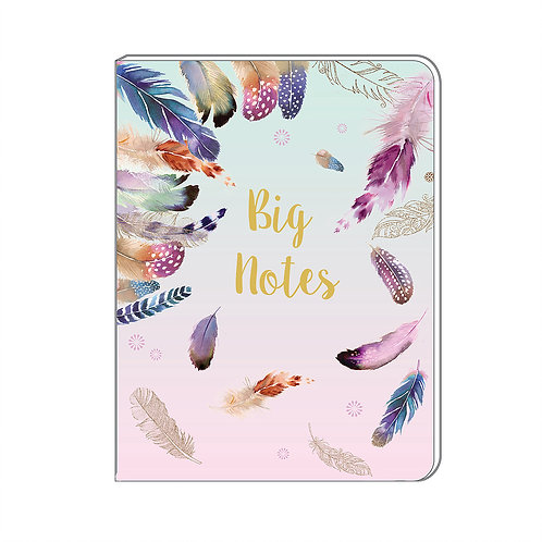 A5 Soft Cover Notebook - Pizazz Feathers