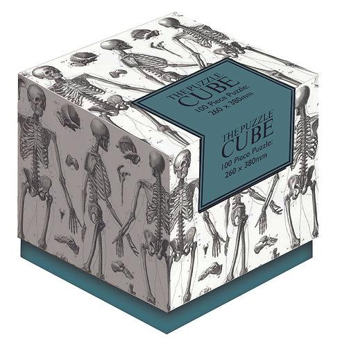 Skeleton - 100 Piece Jigsaw Puzzle Cube