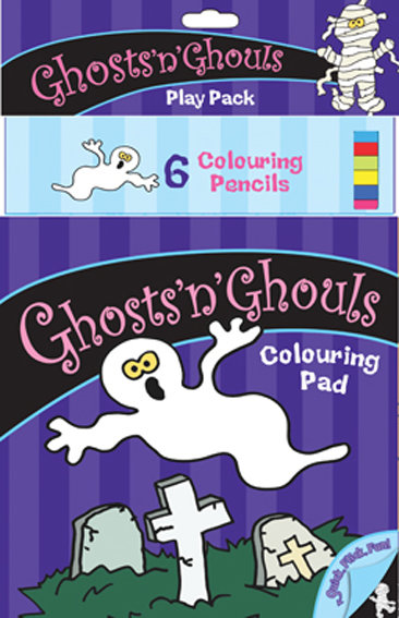 Ghosts 'n' Ghouls Colouring Pack