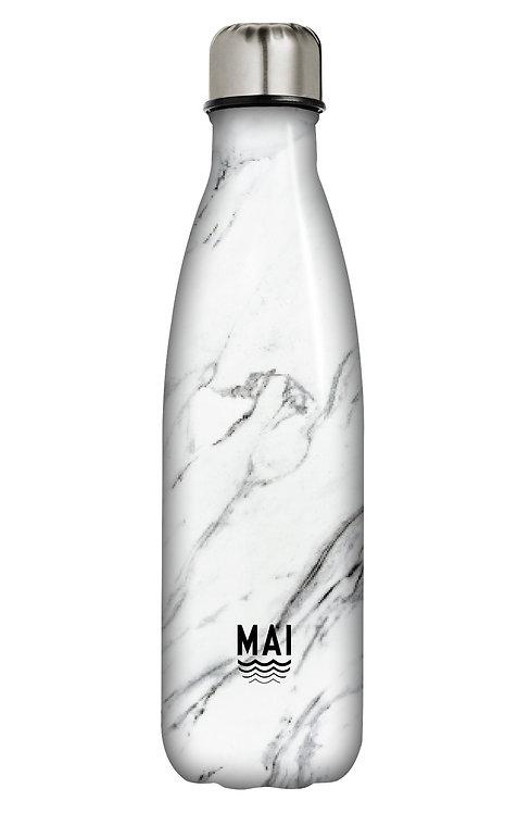 Water Bottle - Mai Sport Marble White