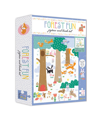 Jigsaw & Book Set - Forest Fun