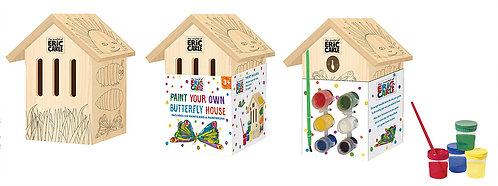 Paint Your Own Butterfly House - Eric Carle Hungry Caterpillar