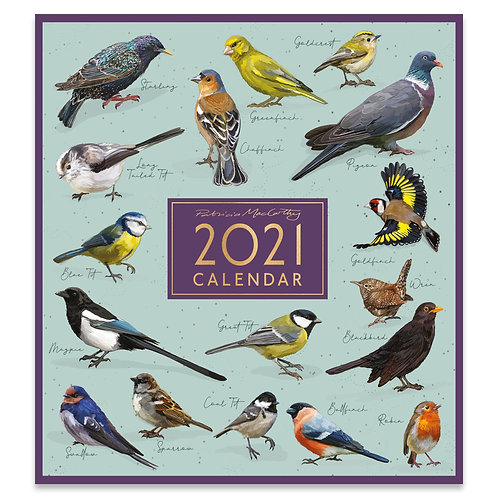 2021 Birds Large Square Wall Calendar