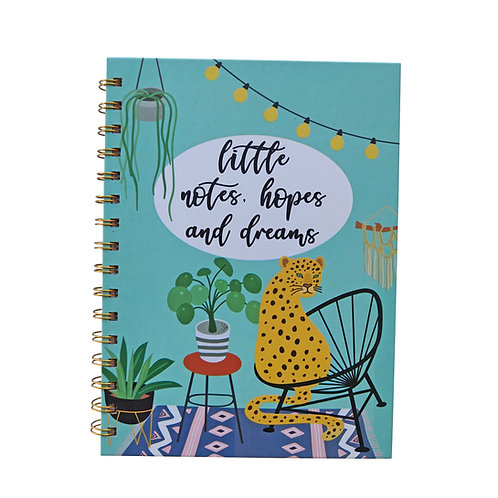 A5 Notebook with Dividers - Urban Jungle