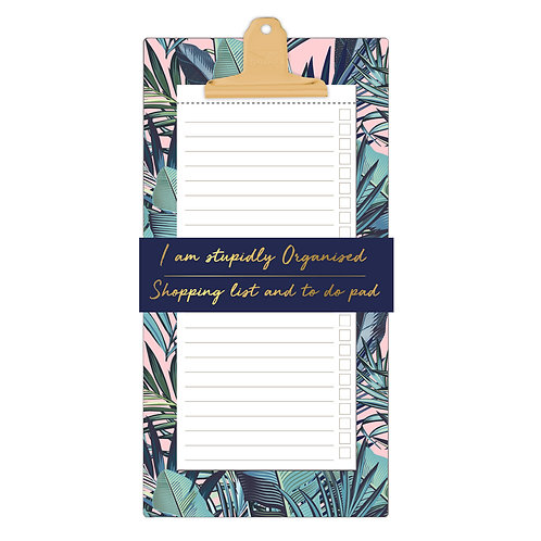 Shopping and To Do List Clipboard - Palm Springs 'Stupidly Organised'