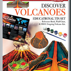 Discover Volcanoes - Wonders of Learning Tin Set