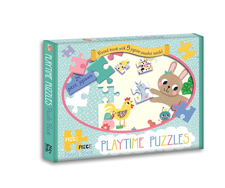 Playtime Puzzles - Piece by Piece Puzzle Book