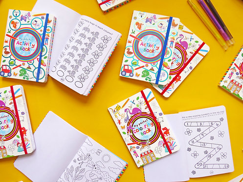 Kids Pocket Activity & Colouring Books