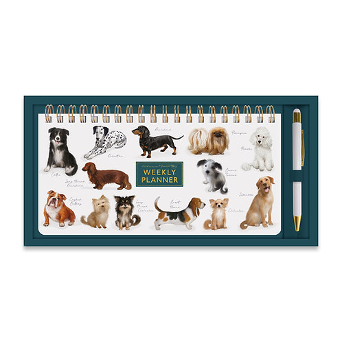 Patricia MacCarthy Dogs Weekly Planner & Pen Set