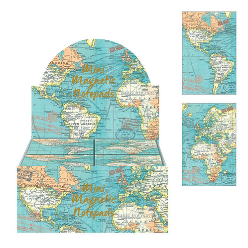 Mini Notepads - Vintage Map