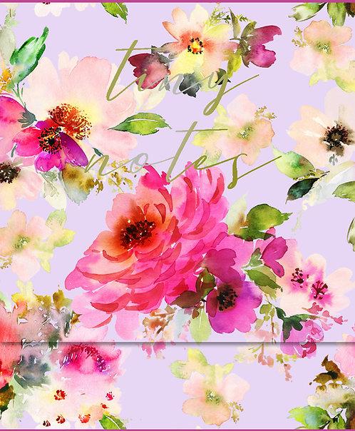 Mini Notepad - Lilac Bloom 'Tiny Notes'