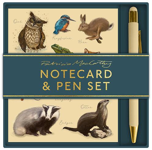 Patricia MacCarthy Wildlife Notecard & Pen Set