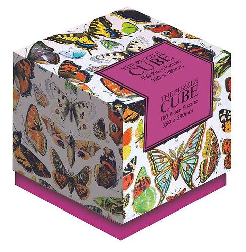 Butterflies - 100 Piece Jigsaw Puzzle Cube