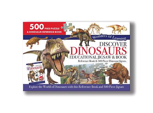 Discover Dinosaurs Jigsaw & Book Set