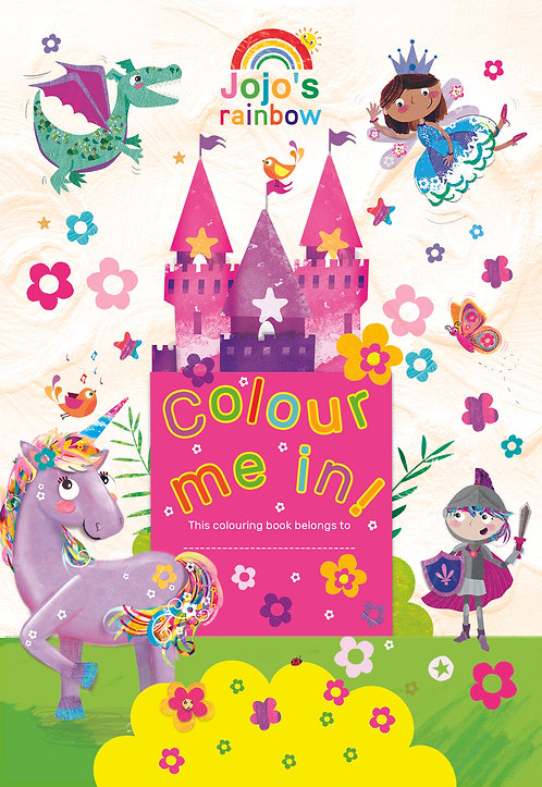 Jumbo Colouring Book - Jojo Rainbow Unicorns