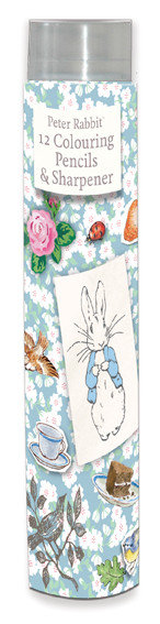 Beatrix Potter's Peter Rabbit 12 Colouring Pencils and Sharpener