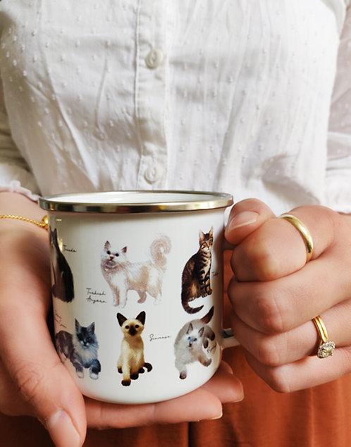 Patricia MacCarthy Cats Enamel Mug