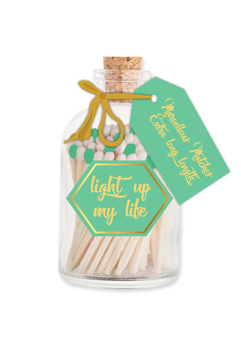 Light Up My Life Matches - Extra Long Matches in Glass Jar