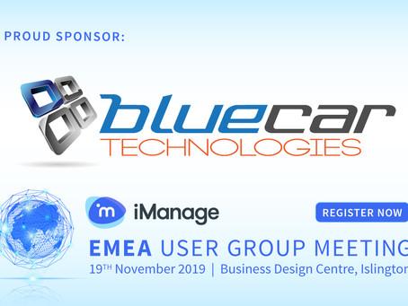 iManage EMEA User Group Meeting 2019