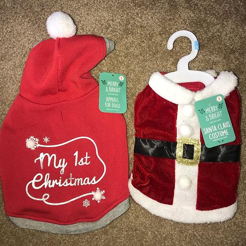Small Santa Costume & Sweatshirt Combo